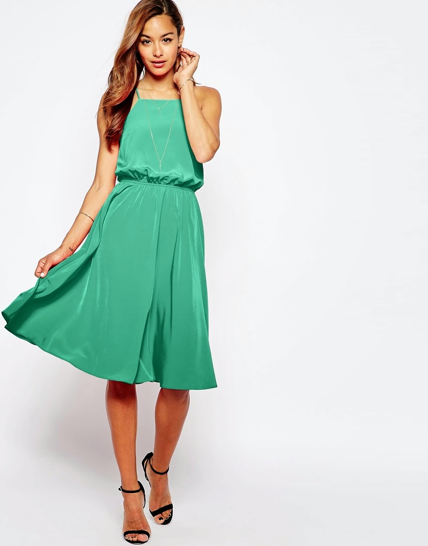 green silk midi dress, green cross back dress,