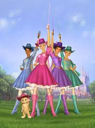 New Cartoon Wallpaper Barbie and The Three Musketeers
