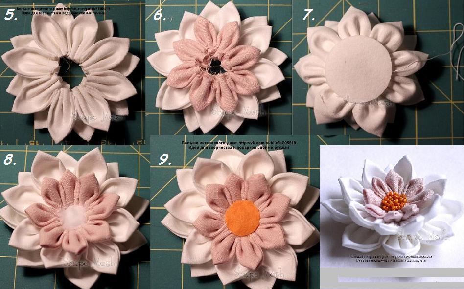 como realizar flores con telas