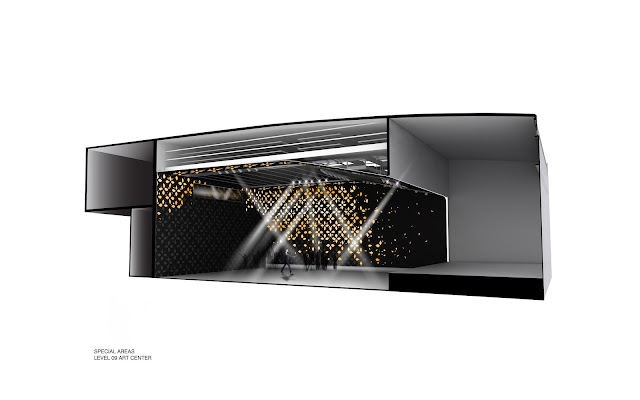 Illustration of club interior inside of new gallerie