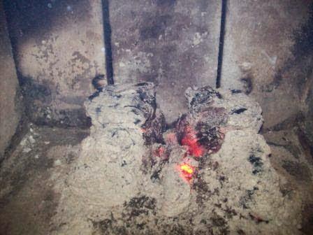 Kominek po 3,5 godzinie od podłożenia ognia