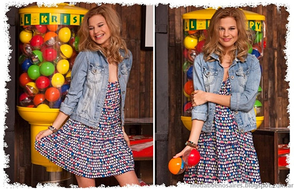 Vestidos cortos verano 2015 Doll Fins.