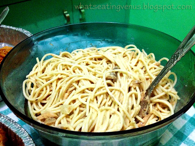 what to do during housewarming, housewarming, spicy tuna mushroom pasta,