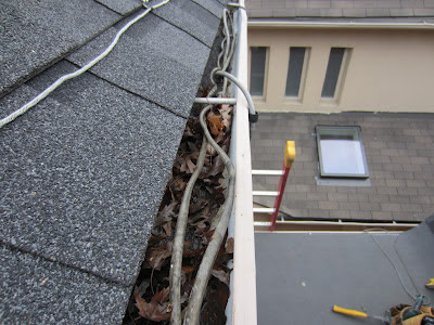 ice damming heater cables eavestrough gutter Toronto