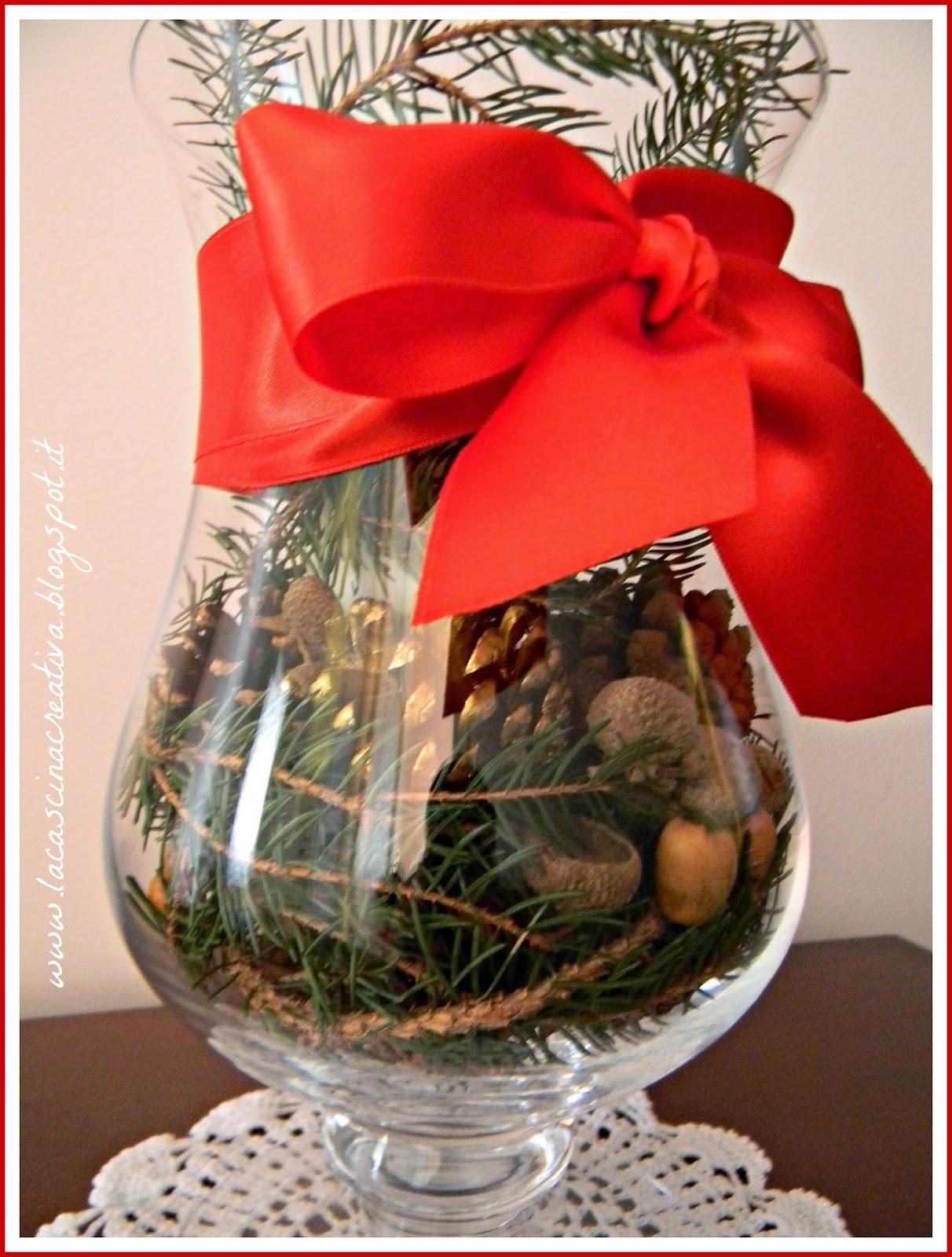 La cascina creativa il natale in un vaso di vetro for Composizioni natalizie in vasi di vetro
