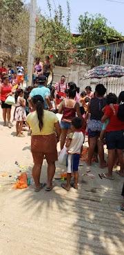 Personas altruista adelantan festejo del día del niño en la colonia Cervantes Delgado
