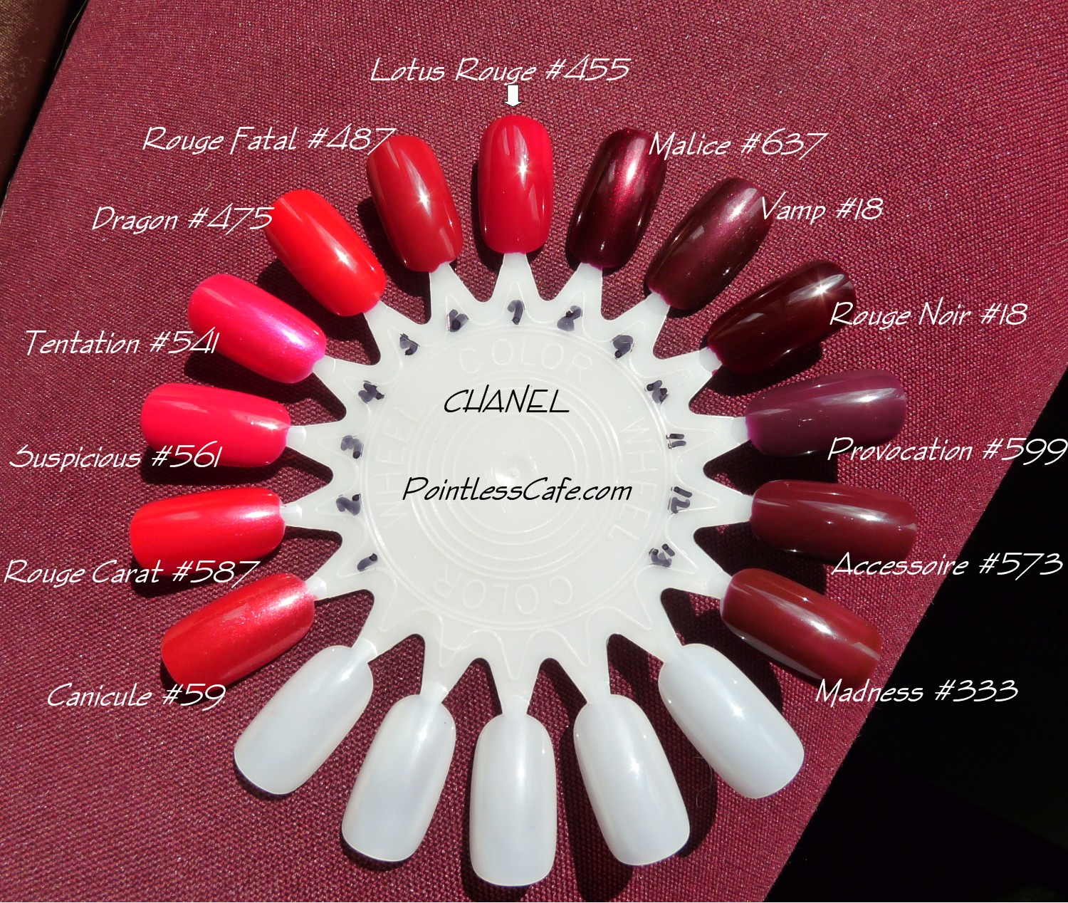 my favorite red and a chanel reds and vamps comparison