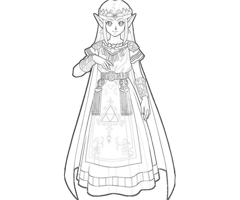 Princess Zelda Coloring Pages : Princess zelda face jozztweet