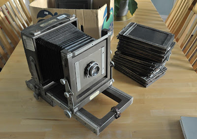 kodak specialist ii, half plate, 5x7, 7x5, large format, analogue photography, analog photography, film photography, silver gelatin, online darkroom, printing