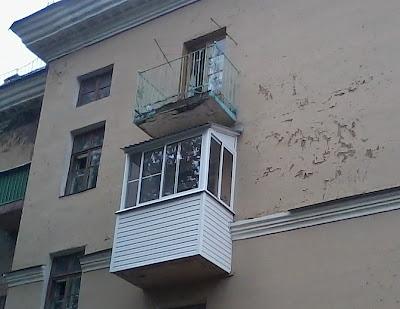Остекление балкона в сталинке алюминиевым профилем