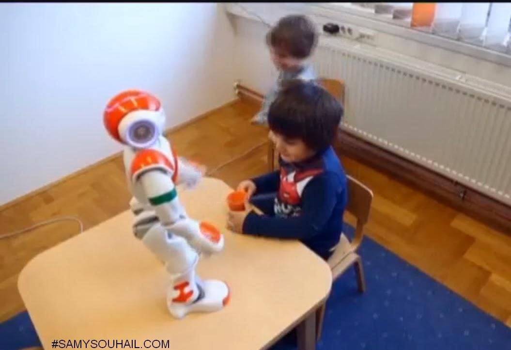روبوت مُطوَّر يتواصل مع الأطفال المصابين بمرض التوحد