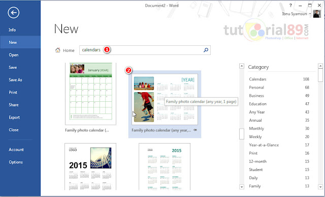 Cara praktis membuat kalender di Microsoft word
