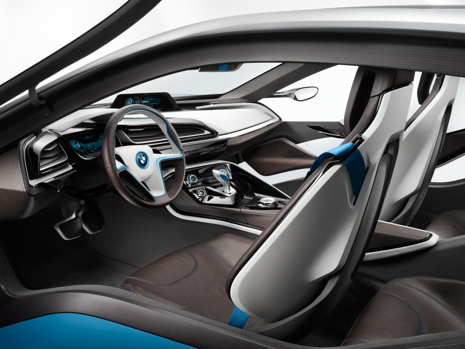 bmw i8 interior production. interior seat and dashboard bmw i8 production