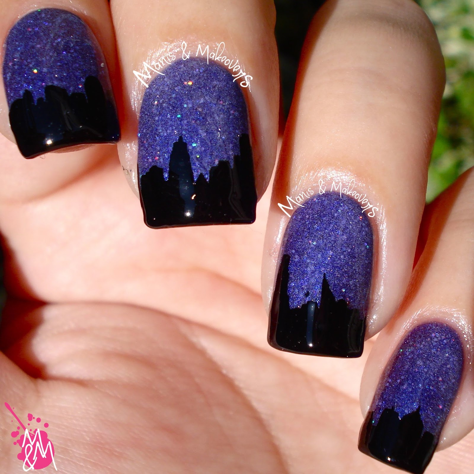 Manis & Makeovers: HPB Presents: City Night Sky
