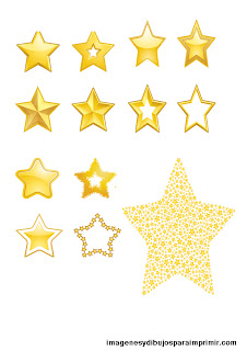 Muchas estrellas pequeñas en un folio