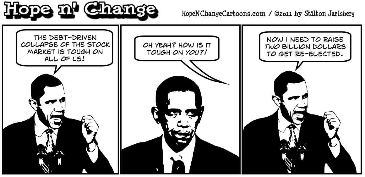 Barack Hussein Obama speaks about the credit downgrade and denies its about money, hopenchange, hope and change, hope n' change, stilton jarlsberg
