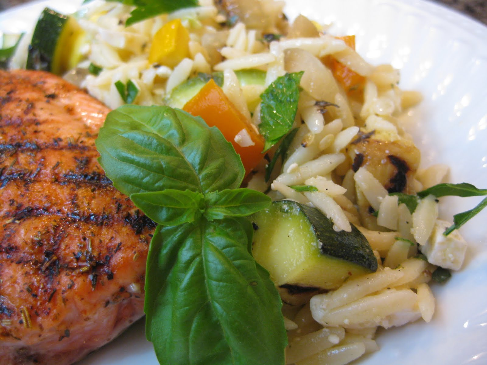 ... : Recipe Snapshot: Mediterranean Orzo Salad with Grilled Vegetables
