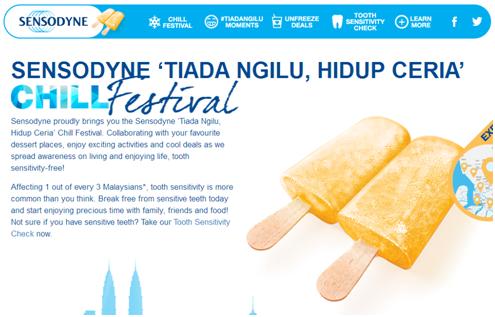 Sensodyne 'Tiada Ngilu, Hidup Ceria' [Chill Festival]