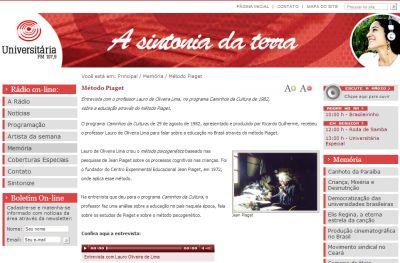 Entrevista Professor Lauro de Oliveira Lima - 1982