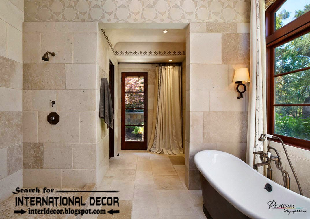 luxury bathroom tiles designs ideas, stone tiles for bathroom