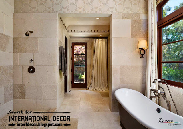 luxury bathroom tiles designs ideas, stone tiles for bathroom