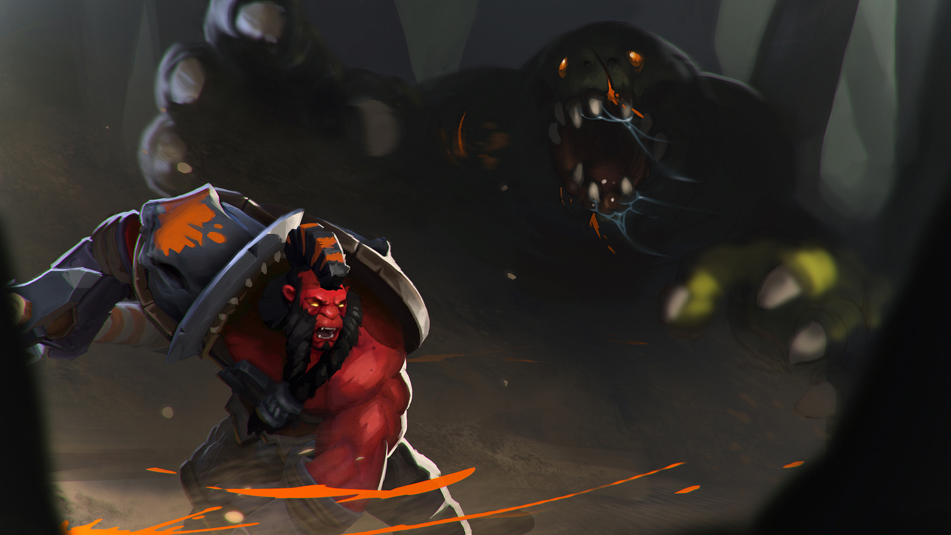 Axe Dota 2 Fight Wallp...