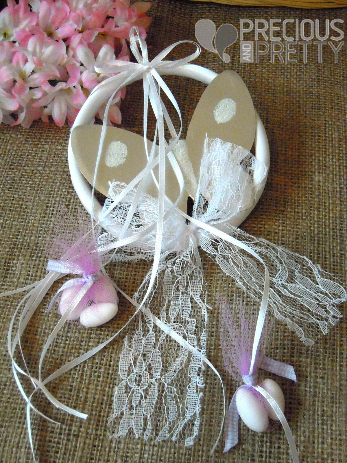 baptism favors butterfly on a wreath
