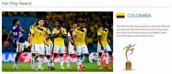 Anugerah Pasukan Paling Bersih Kejohanan - Piala Dunia FIFA 2014