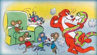 FABULA SOBRE LA IMPRUDENCIA: La Serpiente, La Comadreja y los Ratones -  Cuento para niños