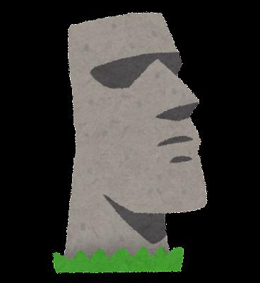 モアイ像のイラスト