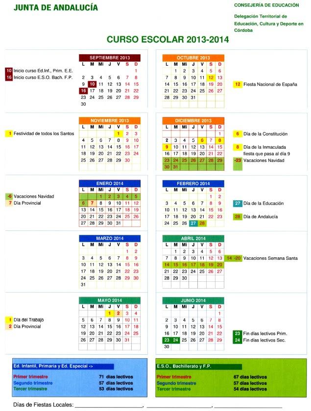 Desactivados En Calendario Escolar Para El Curso 2013 2014 Download ...