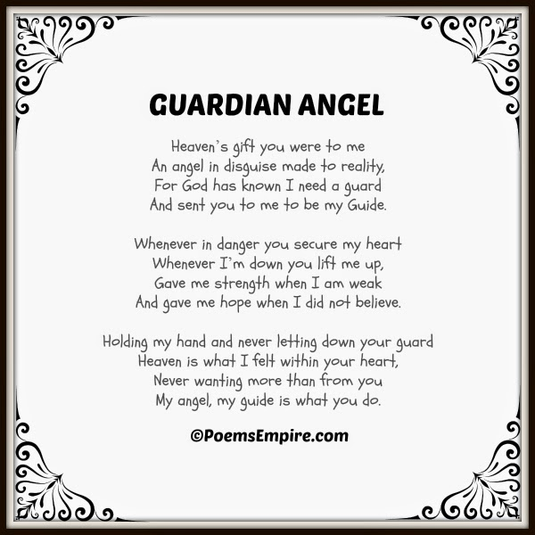 Guardian Angels Poems Guardian Angel