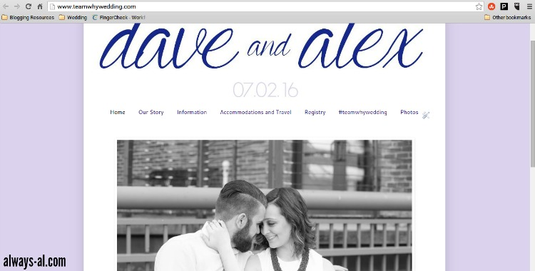 DIY wedding website