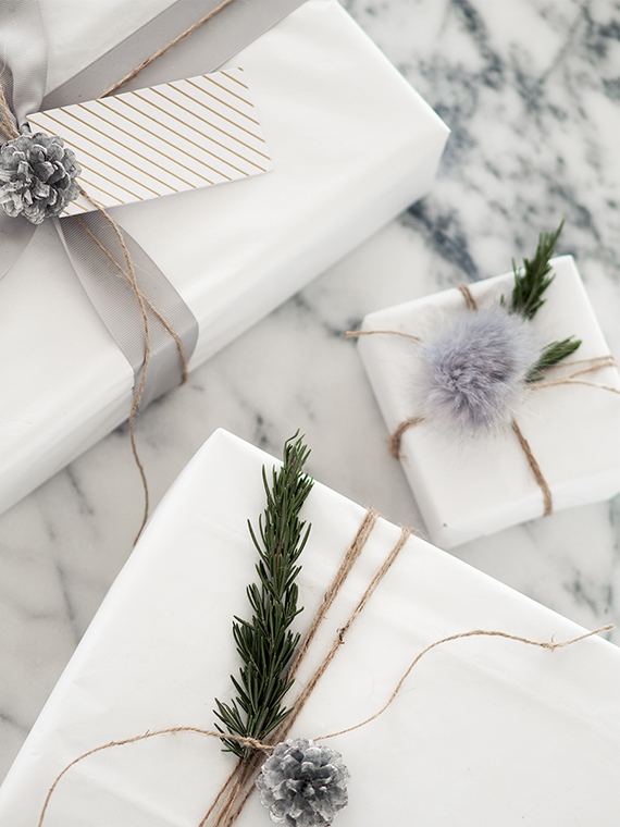 Inexpensive gift wrapping ideas by Not Your Standard