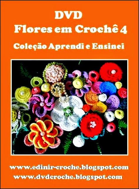 dvd flores em croche 05 volumes com frete gratis na loja curso de croche