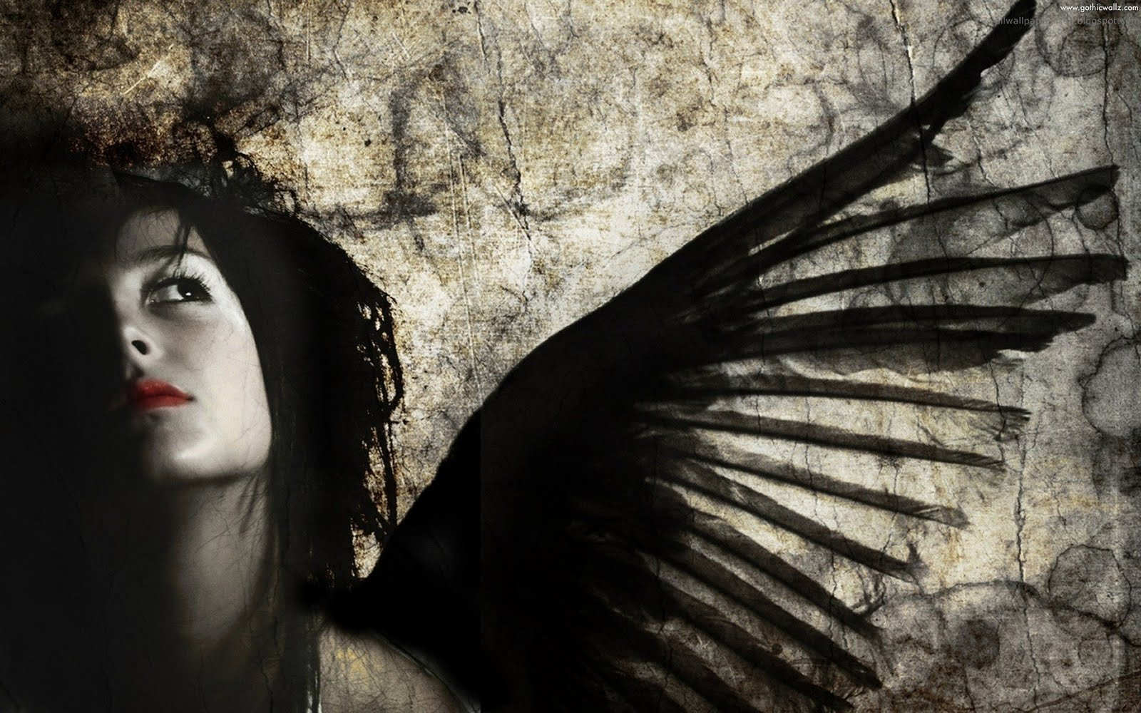 Horror Grunge Girl | Gothic Wallpaper Download