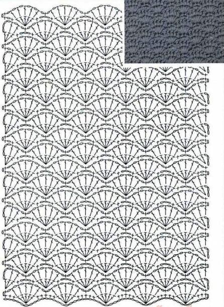 Плотные узоры для юбки крючок