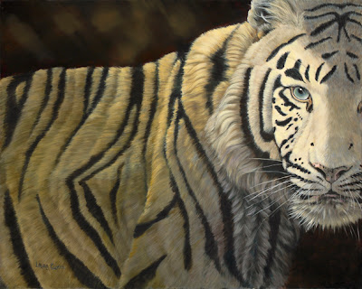 Tiger - Oil on Canvas  by Laura Curtin