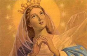 Maria Dimahkotai di Surga