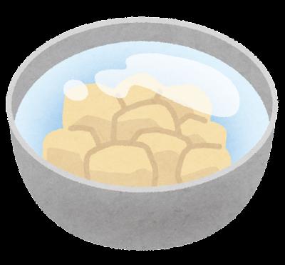 料理の「水にさらす」のイラスト