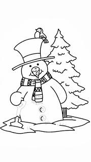 Schneemänner Zum Ausmalen - Schneemann Ausmalbilder, Bilder für Kinder, Kostenlose