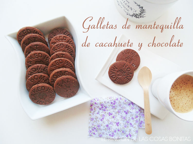 galletas de chocolate y mantequilla de cacahuete
