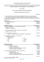 Barem de corectare Limba si Literatura Engleza - titularizare iulie 2011