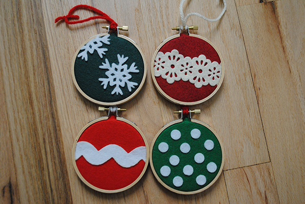 Embroidery hoop ornament diy polka dots are love