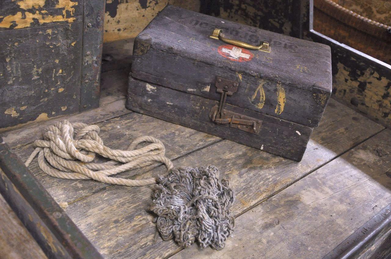 skrzynka lekarska z powozu, muzeum Galowice