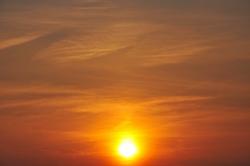 Wenn die Sonne Abschied nimmt...