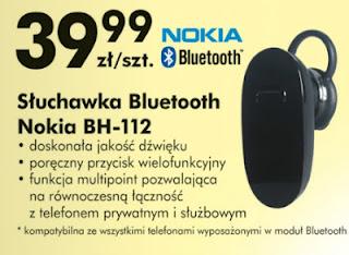 Słuchawka Bluetooth Nokia BH 112 Biedronka ulotka