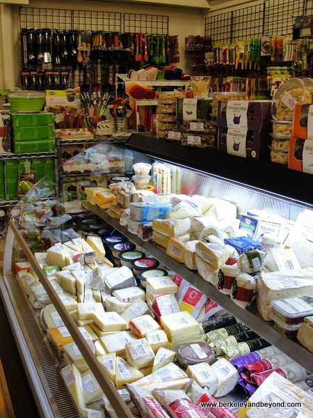 cheese case at Tess' Kitchen in Grass Valley, California