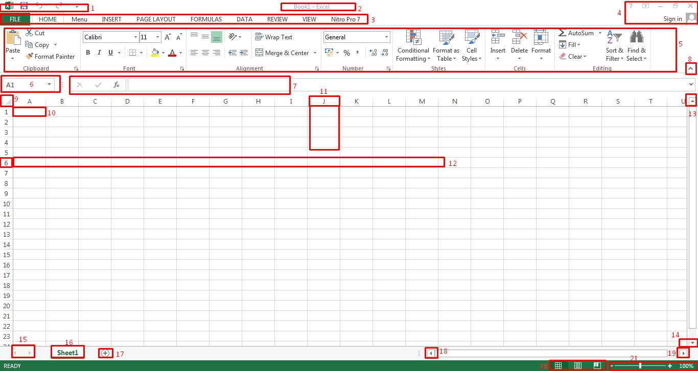 Mengenal Tampilan dan Fungsi Lembar Kerja Microsoft Excel 2013