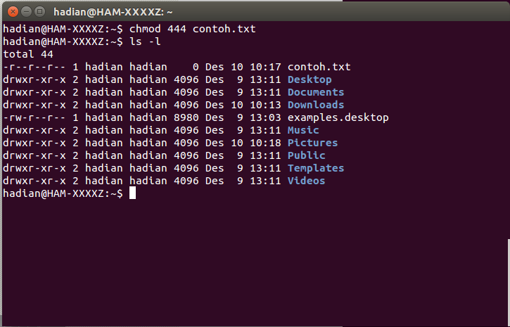 how to read and write permissions in ubuntu